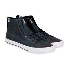 HUF Classic Hi Mens Blue Canvas High Top Lace Up Sneakers Shoes