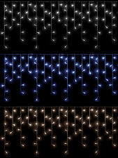 Icicle Lights Christmas Outdoor Indoor LED 360 480 720 Ice Blue Warm White