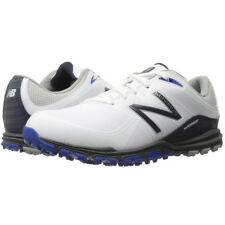 NEW BALANCE MENS NBG1005 MINIMUS SPIKELESS GOLF SHOES - WHITE / BLUE / BLACK