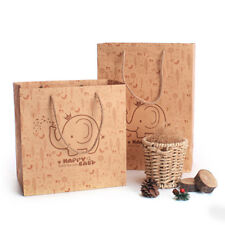 5pcs Kraft Paper Carry Bags - with Handle /Shopping Bags/Gift Bags Wedding Favor