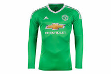 adidas Mens Manchester United 17/18 Away L/S Goalkeepers Shirt Top Sports