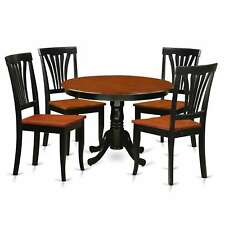 HLAV5-W  5 Pc  table set with a Dinette Table and 4 dining Chairs