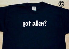 got allen? FAMILY TREE REUNION LAST NAME SURNAME T-SHIRT TEE FUNNY CUTE