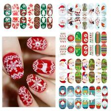 Christmas Nail Art Stickers Decals Water Transfer DIY Manicure Decoration Sheet