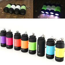 USB Rechargeable LED Lights Flashlight Pocket Keychain Mini Torches Waterproof