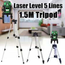 5 Line 6 Point Green Light Laser Level Rotary Self Leveling Measure +1.5M Tripod