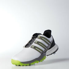 New Adidas Powerband Boa Boost Golf Shoes White/Solar Slime Choose Size