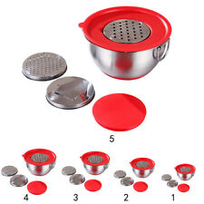 Stainless Steel Mixing Bowl with Grater Dishwasher Safe Food Storage Bowls