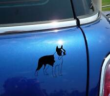 DETAILED BOSTON TERRIER DOG GRAPHIC DECAL STICKER ART CAR WALL DECOR