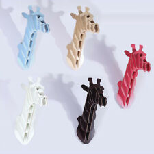 3D Puzzle Wood Craft Animal Giraffe Heads Wooden Model Hanging Ornament Kids Toy
