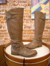 Naturalizer Josey Taupe Pebbled Leather Buckled Riding Boots New