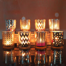 Tabletop Glass Votive Tea Light Candle Holder Candlestick Wedding Banquet Decors