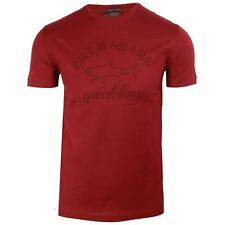 PAUL & SHARK T SHIRT MENS BURGUNDY CREW NECK TOP