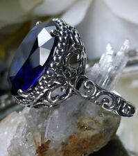 7ct Oval *Sapphire* Sterling Silver Art Nouveau Filigree Ring {Made To Order}