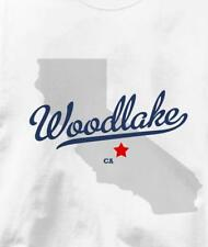Woodlake, Tulare County, California CA MAP Souvenir T Shirt All Sizes & Colors