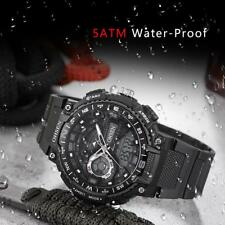 OHSEN Men's LED Silicone Digital Analog Quartz Waterproof Sport Wrist Watch R1F7