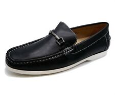 MENS BLACK SLIP-ON LOAFER MOCCASINS DRIVING COMFY BOAT DECK CASUAL SHOES 6-11