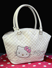 New Hellokitty Handbag Shopping Shoulder Tote Bag Purse AA-826a1 White