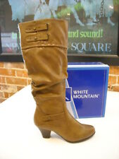 White Mountain Pasttime Taupe Slouchy Buckle Boots New