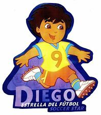 """5.5-9"""" DORA & DIEGO SPORTS SOCCER CHARACTER WALL SAFE STICKER BORDER CUT OUT"""