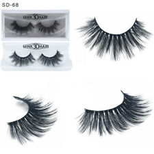 Fashion Cross Long Extension 100% Real 3D Mink Fur Eye Lashes False Eyelashes