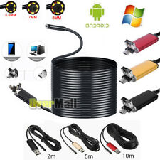 2in1 10M 6LED Endoscope USB Waterproof Borescope Inspection Camera fr PC&Android