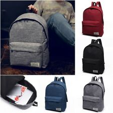 Large Capacity Unisex Canvas Shoulder Satchel Backpack Schoolbag Tote Book Bag