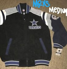 J Medium Dallas Cowboys Suede Leather Varsity Jacket NFL Helmet Patch Coat Mens