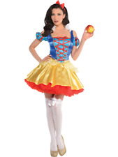 Ladies Sexy Snow White Princess Carnival Fancy Dress Costume UK 8-20 Plus Size