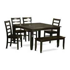 PARF6-CAP 4-chair and Dining Bench 6-piece Dining Set with Leaf