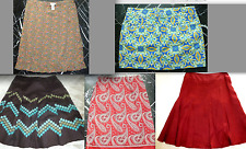 ANN TAYLOR Floral Paisley LINEN A-Line Straight PENCIL Pleat Embroidery SKIRT 6