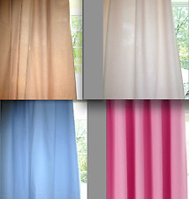 Set of 2 POTTERY BARN KIDS Pink Green Blue Taupe SAILCLOTH Curtain Drape Panels