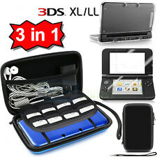 Carrying Bag Clear Case Cover Screen Protector for New Nintendo 3DS XL /3DS LL