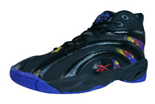 Reebok Classic Shaqnosis OG Mens Leather Mid Top Sneakers / Retro Shoes - Black