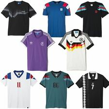 adidas ORIGINALS RETRO FOOTBALL JERSEYS FRANCE GERMANY SPAIN REAL MADRID MEN'S