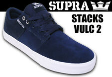 SUPRA Stacks VULC II 2 Navy BLUE White LOW TOP Lo SKATE Board SKATER SHOE Men sz
