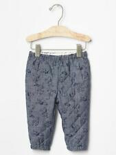 Baby Gap NWT Peanuts Snoopy Blue Quilted Chambray Pants 0-3 3-6 6-12 Months $30