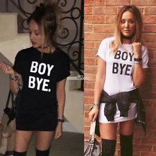 New Fashion Women Casual O-Neck Short Sleeve Letter Print Loose T-shirt S0BZ