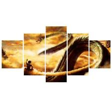 Frameless Five Pcs Flying Dragon Oil Painting On Canvas Wall Hanging Hone Decor