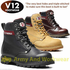 V12 Vtech BOULDER Safety Work Boots Leather or Nubuck Steal Toe Cap & Midsole