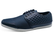MENS NAVY LACE-UP SMART CASUAL PLIMSOLLS PUMPS LOAFERS COMFY SHOES SIZES 6-11