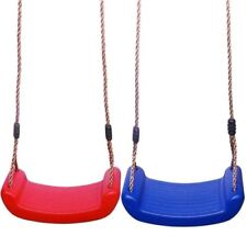 Childrens Kids Plastic Rope Swing Seat Hanging Outdoor Garden Toy Mounting Bench