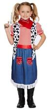 Girls Budget Denim cowgirl Fancy Dress Costume - All sizes