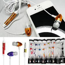 Hi-Quality Remote Mic Metal Earphone For iPhone 3G/4G/4GS HTC 3.5mm AUDIO LOT OF