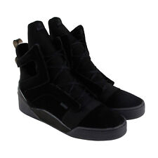 Radii Prism Mens Black Suede High Top Lace Up Sneakers Shoes