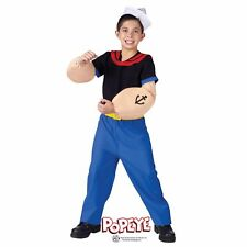 Boys Popeye Sailor Costume Kids Halloween Child Party Outfit