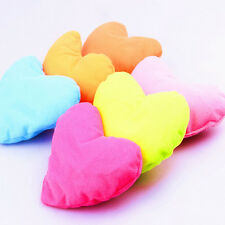 1PC Home Kids Bed Pink Heart-shaped Pillow Creative Plush Pet Dog Cat Toy E&F