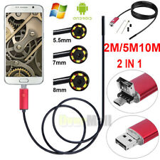 2 In 1 Android PC HD Endoscope Waterproof Snake Borescope USB Inspection Camera