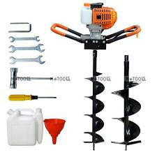 """New 52cc Gas Powered Post Hole Digger 6""""/10"""" Earth Auger  Digging Machine 2.2HP"""