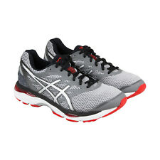 Asics Gel Cumulus 18 Mens Gray Black Mesh Athletic Lace Up Running Shoes